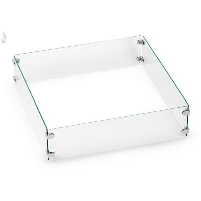 Tempered Glass Flame Guard for 18 in. Square Drop-in Fire Pit Pan
