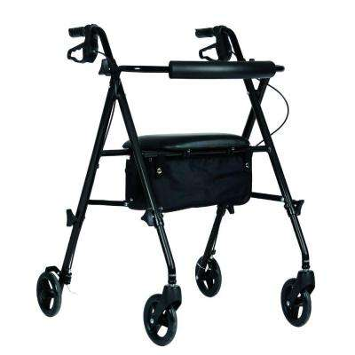 Freedom Ultra-Light Folding 4-Wheel Rollator in Black
