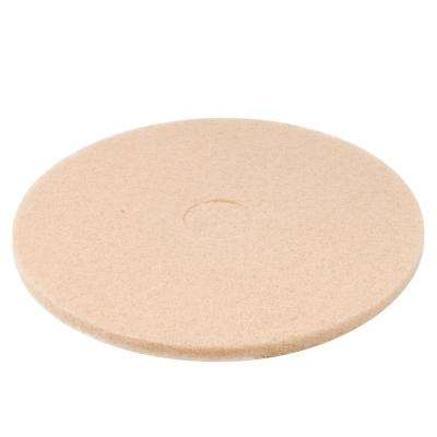 20 in. Ultra High-Speed Low Burnish Champagne Floor Pads (Case of 5)
