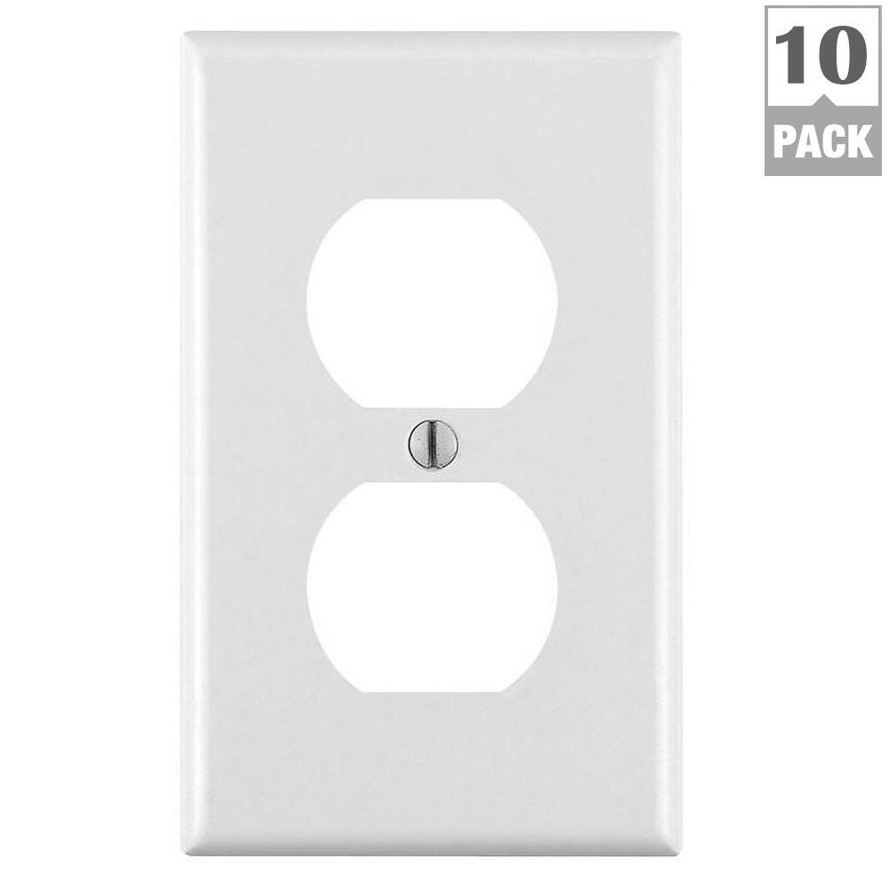 Leviton 1gang White Surface Mount Wiring Boxr144277700w The Home 1 Gang Duplex Outlet Wall Plate 10 Pack M24 88003