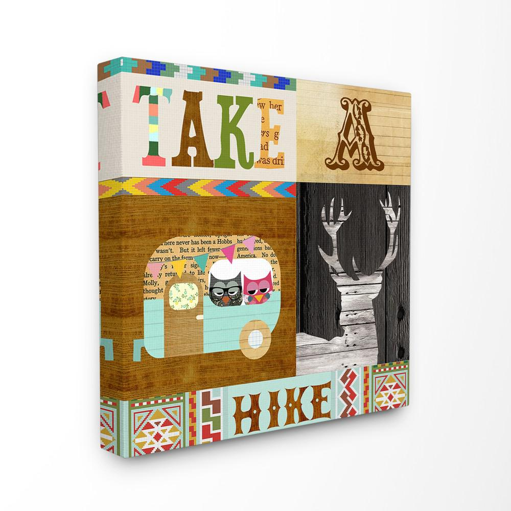 the stupell home decor collection 17 in x 17 in take a hike