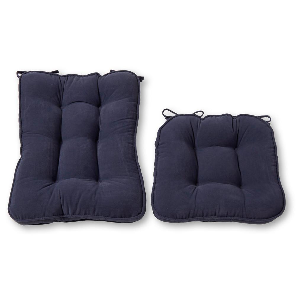 Hyatt Denim 2-Piece Rocking Chair Cushion Set