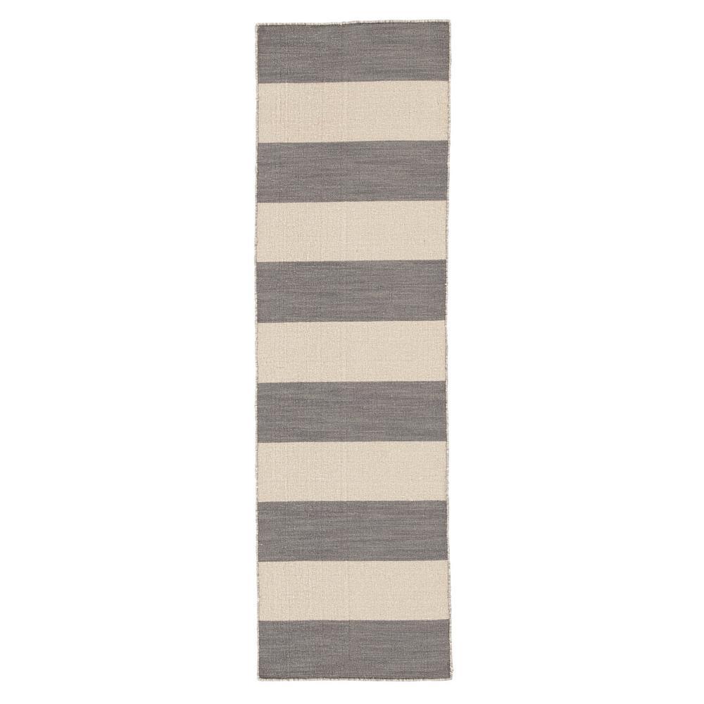Turtledove 3 ft. x 8 ft. Stripe Runner Rug