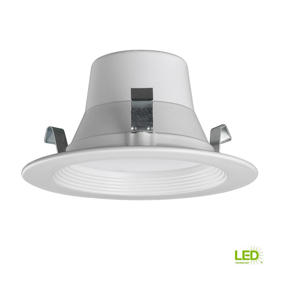 Bluetooth 4 in. White Dimmable LED Recessed Trim with Color Temperature