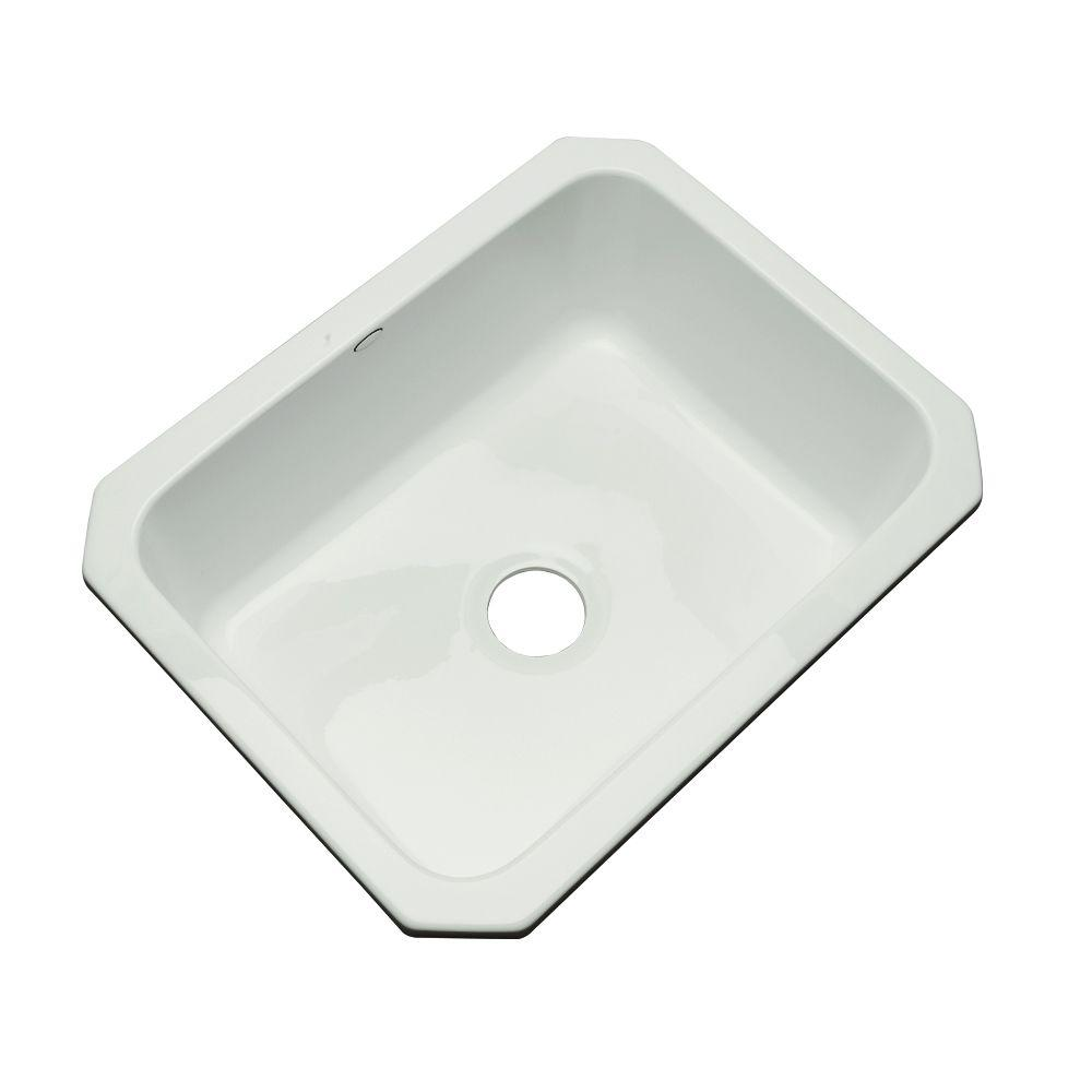 Thermocast Inverness Undermount Acrylic 25 in. Single Bowl Kitchen Sink in Ice Grey