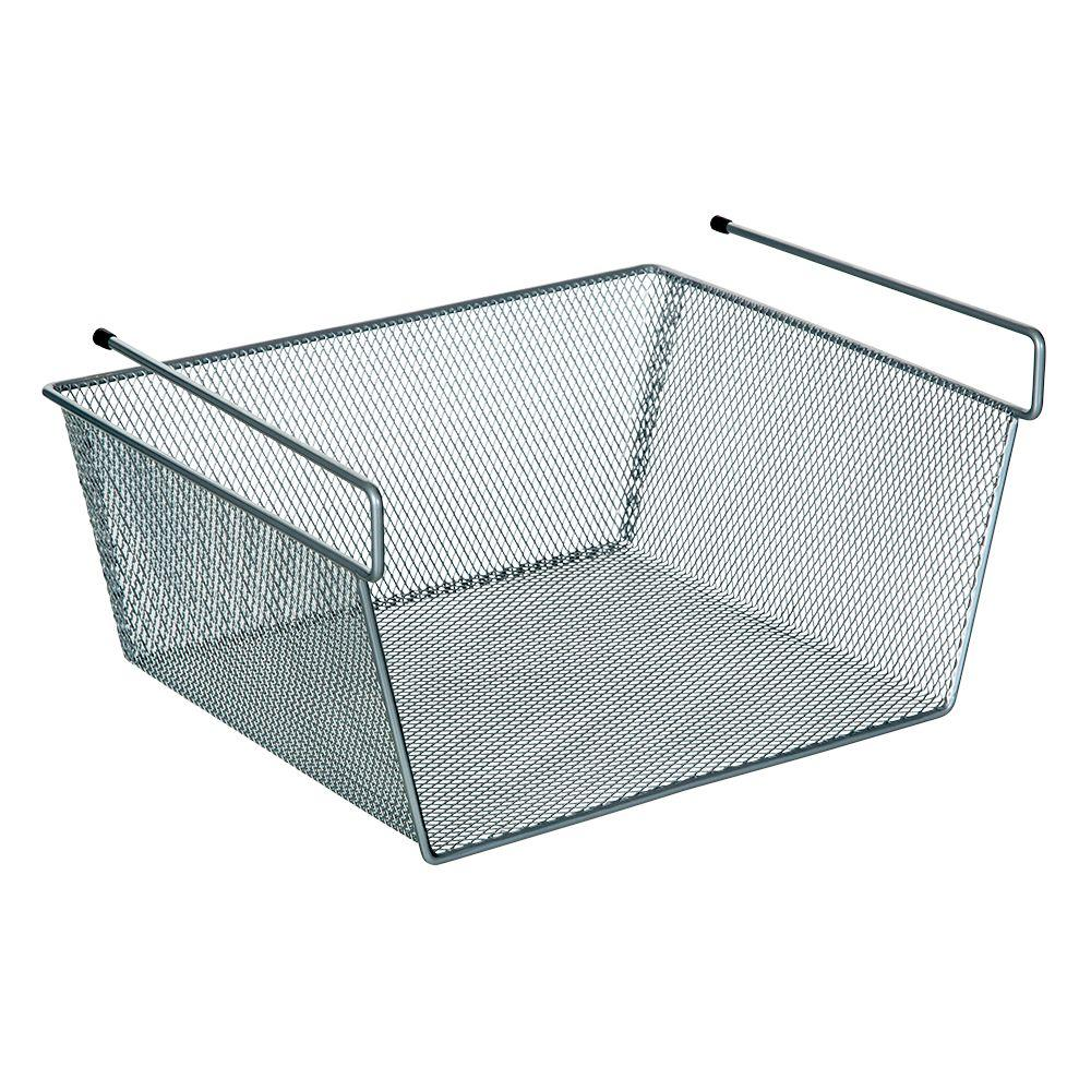 under cabinet basket ltl home products more inside shelf mesh basket z10 27459