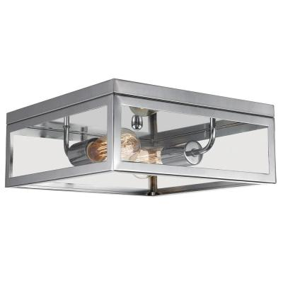 Memphis 2-Light Chrome Flush Mount Ceiling Light