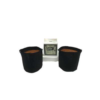 10 Gal. Fabric Pot with Coconut Coir Premium Growing Media (2-Pack)