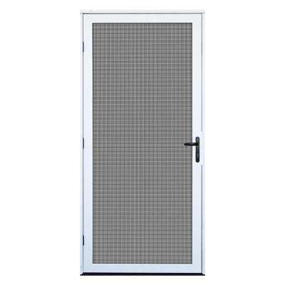36 in. x 80 in. White Surface Mount Ultimate Security Screen Door with Meshtec Screen