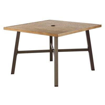 Mix and Match Farmhouse 42 in. Square Galvanized Steel Outdoor Dining Table