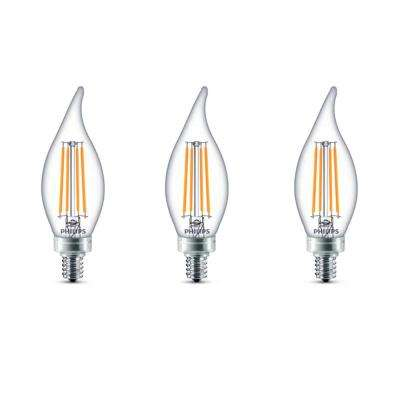 40-Watt Equivalent B11 Dimmable LED Bent Tip Candle Light Bulb Daylight (3-Pack)