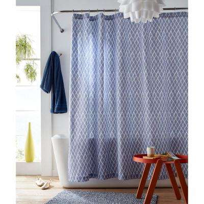 72 in. Blue Diamonds Shower Curtain