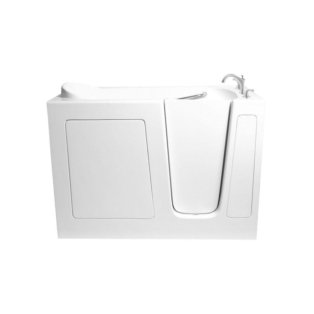 4.25 ft. Walk-In Whirlpool and Air Bath Tub in White