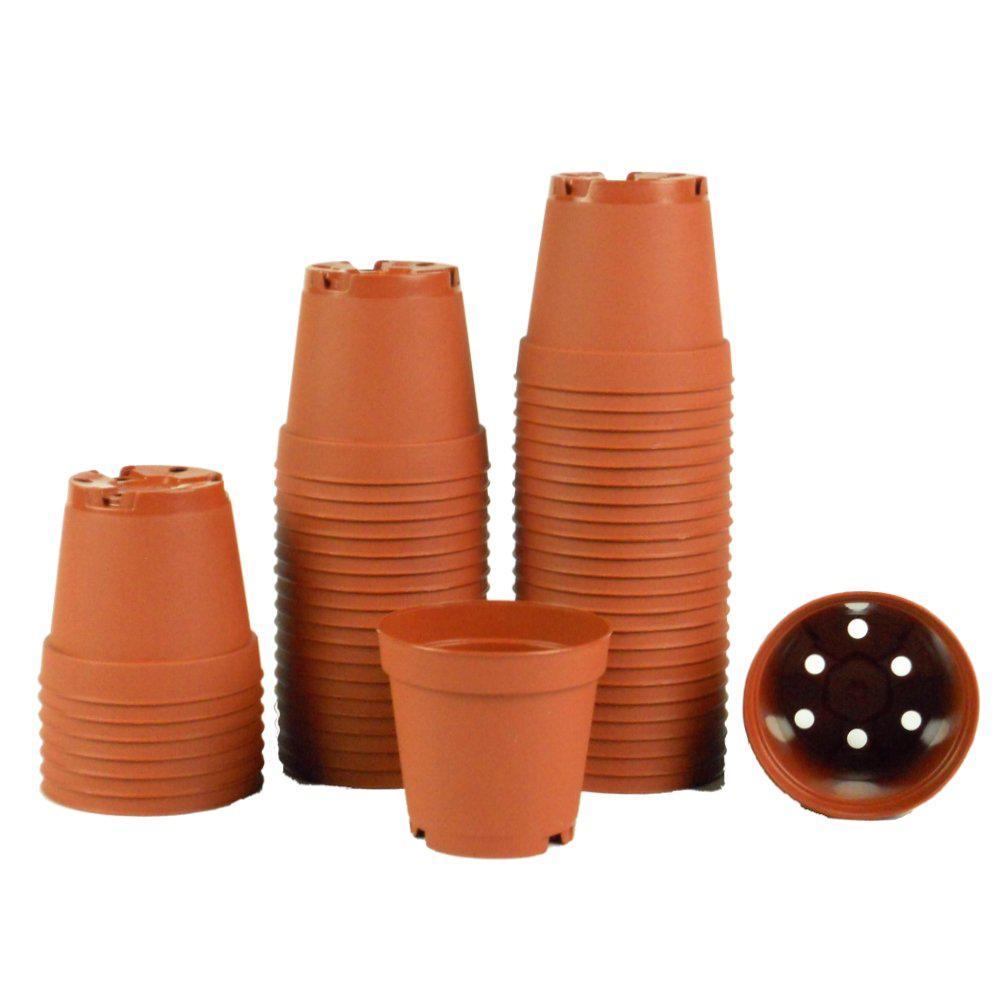 2 in. Terra Cotta Plastic Pots (Pack of 50)