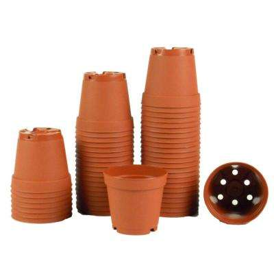 2 in. Terra Cotta Plastic Pots (Pack of 50)