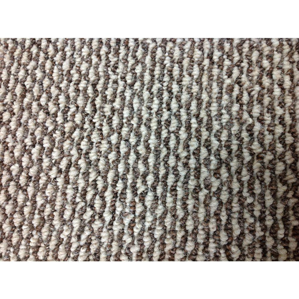 TrafficMASTER Cyclone - Color Bayou- Brown/Tan- Berber 12 ft. Carpet Attached Pad