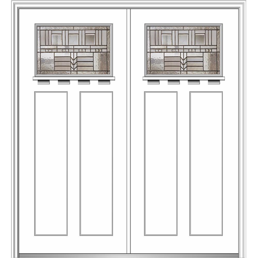 64 in. x 80 in. Oak Park Left-Hand Craftsman Decorative 1-  sc 1 st  The Home Depot & Shaker - Front Doors - Exterior Doors - The Home Depot