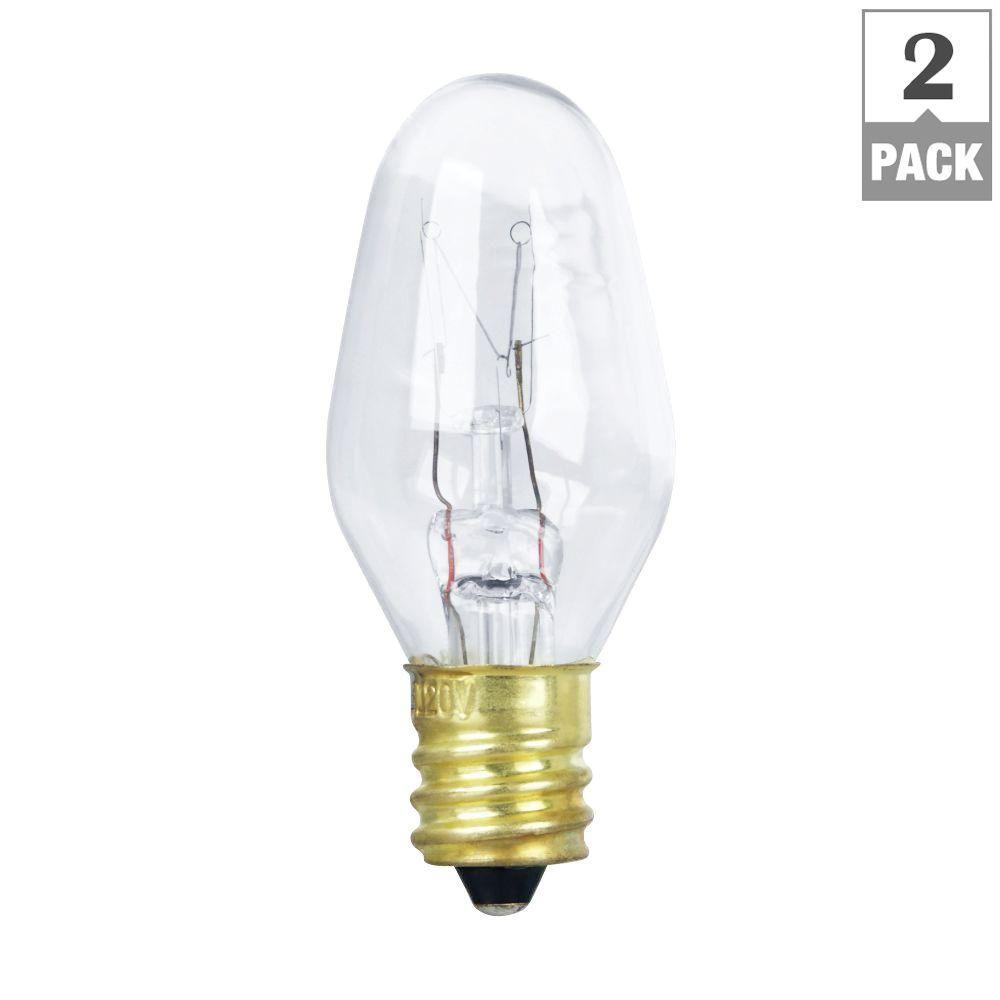 Feit electric 10 watt incandescent c7 appliance light bulb 2 pack feit electric 10 watt incandescent c7 appliance light bulb 2 pack sciox Choice Image