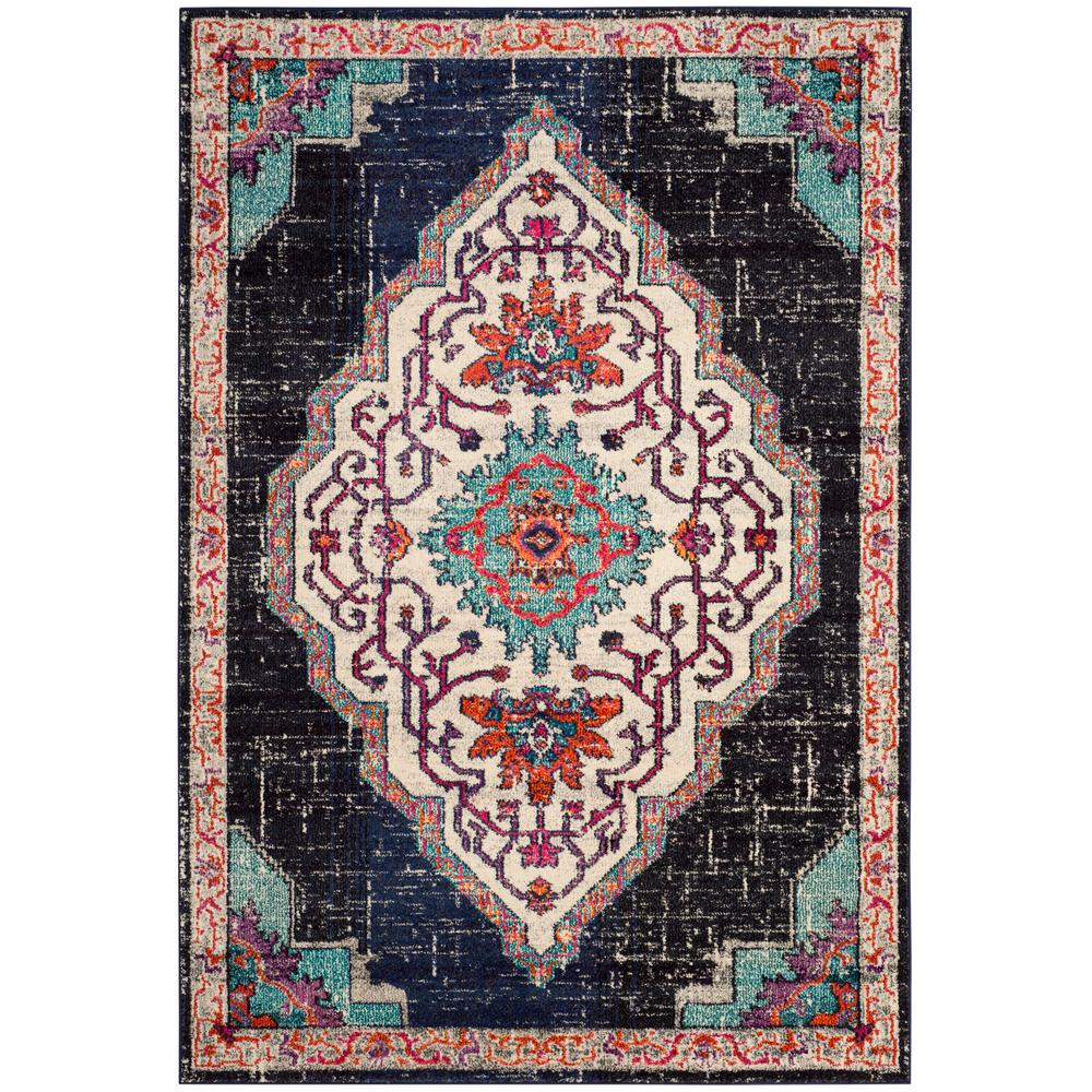 Safavieh Monaco Black Blue 8 Ft X 10 Ft Area Rug Mnc254z 810 The
