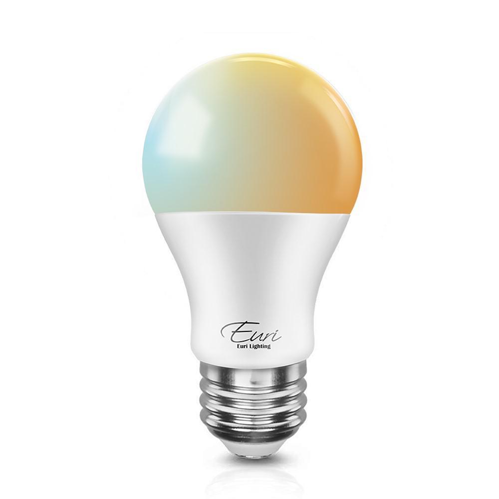 60-Watt Equivalent A19 Dimmable SMART LED Light Bulb in Bright White (1-Bulb)