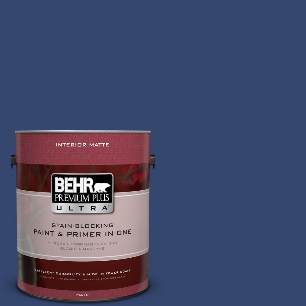 BEHR Premium Plus Ultra 1 gal. #S-H-610 Mountain Blueberry Flat/Matte Interior Paint
