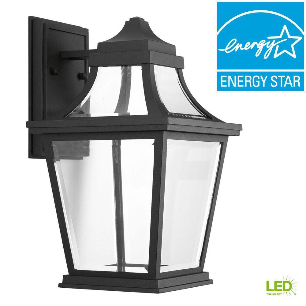 Endorse Collection 1-Light Outdoor Black LED Wall Lantern