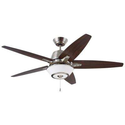 Euclid 56 in. LED Brushed Steel Ceiling Fan