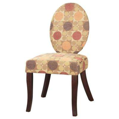 Multi-color Print Herculan Fabric Accent Chair