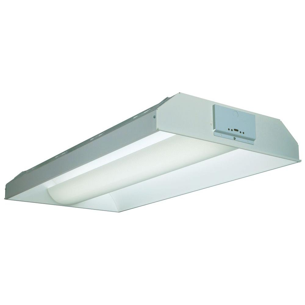 Lithonia Lighting 2 ft. x 4 ft. White Avante Volumetric Fluorescent Troffer