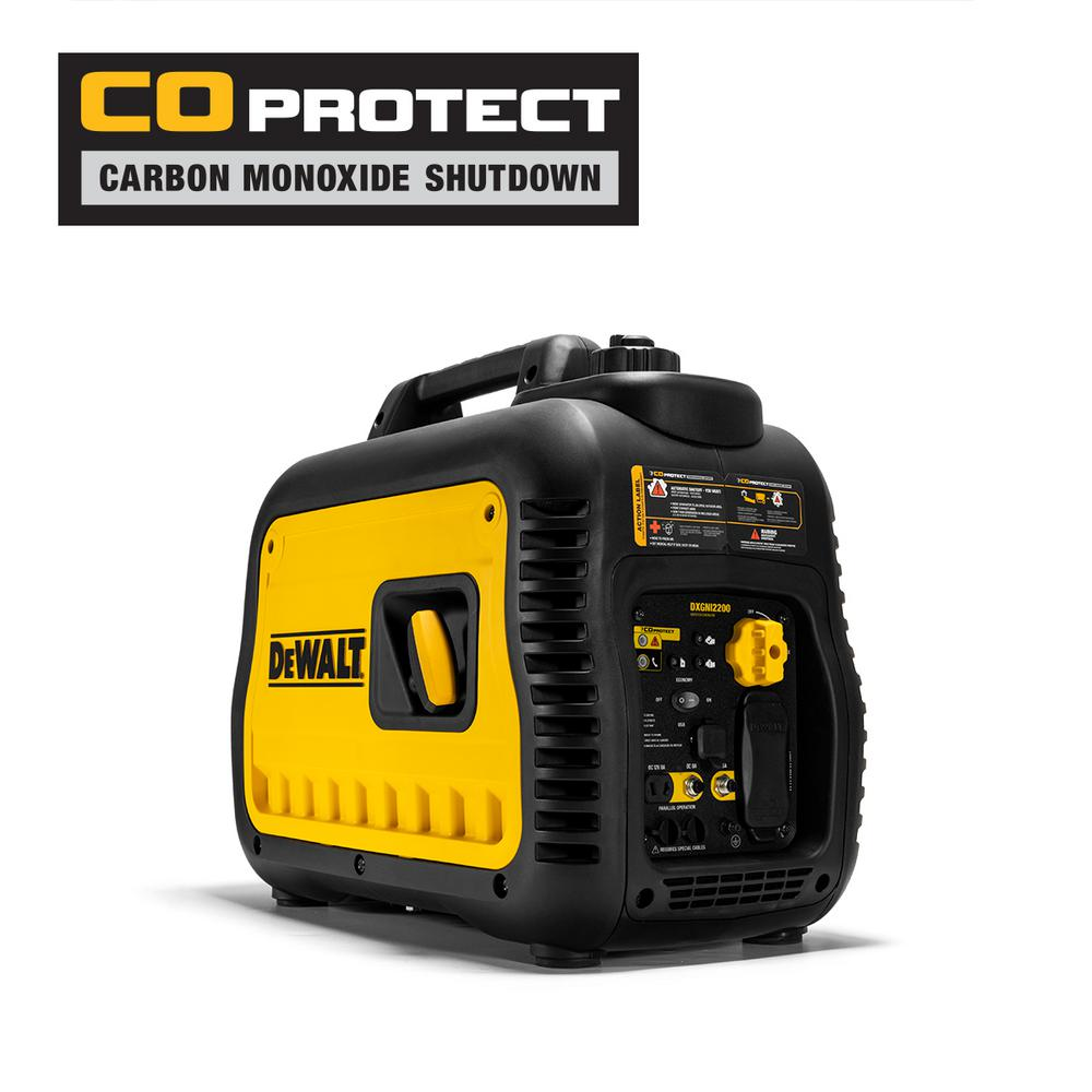 DEWALT 2200i 2200-Watt Gasoline Powered Portable Inverter Generator with CO-PROTECT Technology 50 State