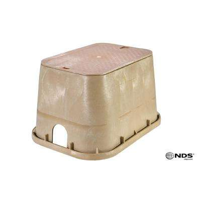 14 in. x 19 in. Valve Box with Overlapping ICV Cover in Sand