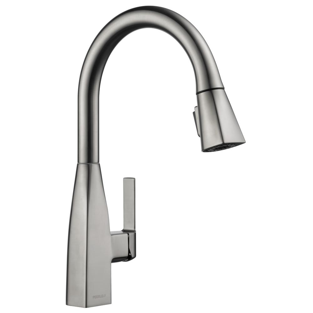 Peerless Xander Single Handle Pull Down Sprayer Kitchen Faucet In