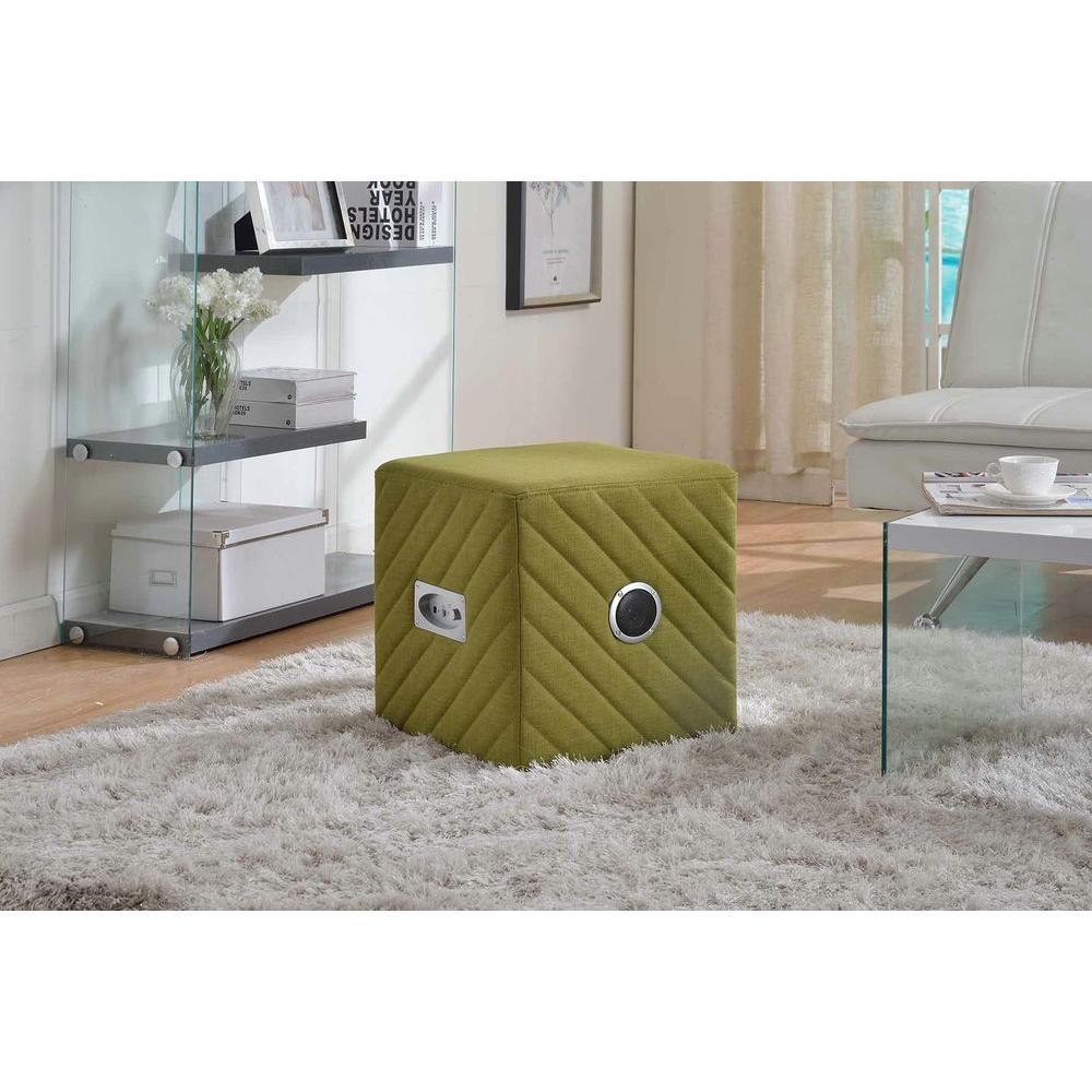Up Tempo Lemon Green Storage Ottoman. Write A Review