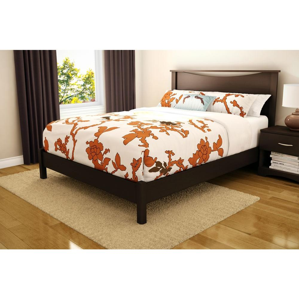 Step One Queen-Size Platform Bed in Chocolate (Brown)