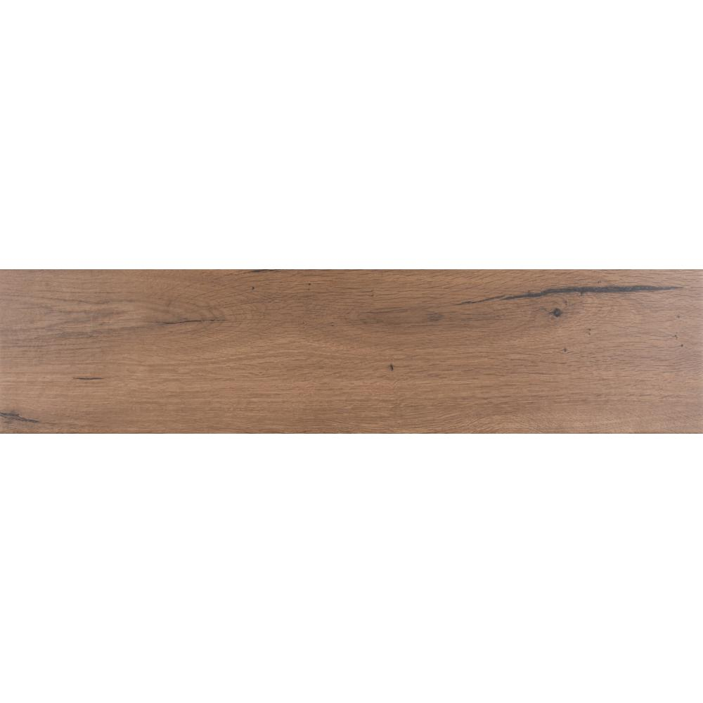 Manorwood Cafe 8 in. x 36 in. Glazed Porcelain Floor and