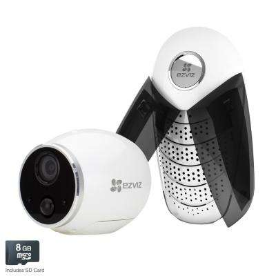 Mini Trooper 720p HD Wireless Surveillance System with 1-Camera and Base Station and 8GB MicroSD Storage