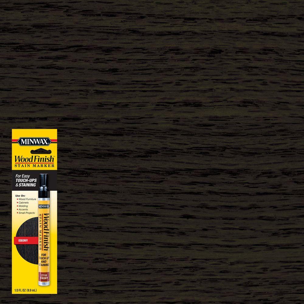 1/3 oz. Ebony Wood Finish Stain Marker (8-Pack)