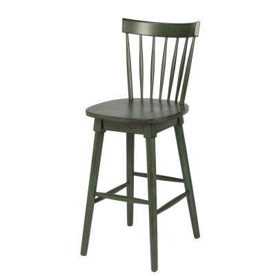 Elise 29 in. Green Bar Height Swivel Bar Stool (Individual)