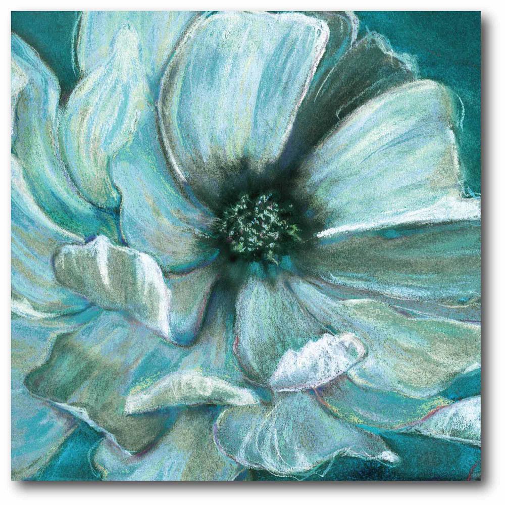 """""""Teal flower"""" Wall Art-WEB-SC282T - The Home Depot"""