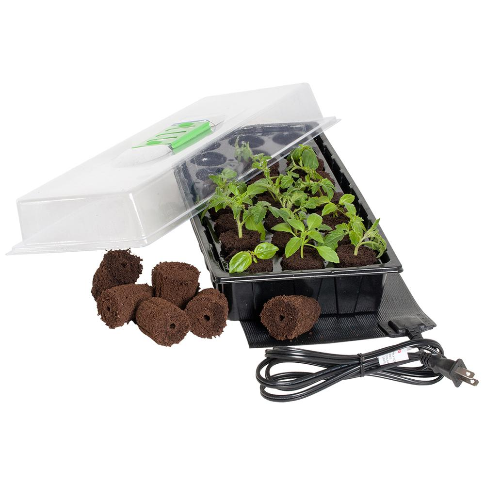 24-Cell Grow Plug Mini Germination Station with Heat Mat