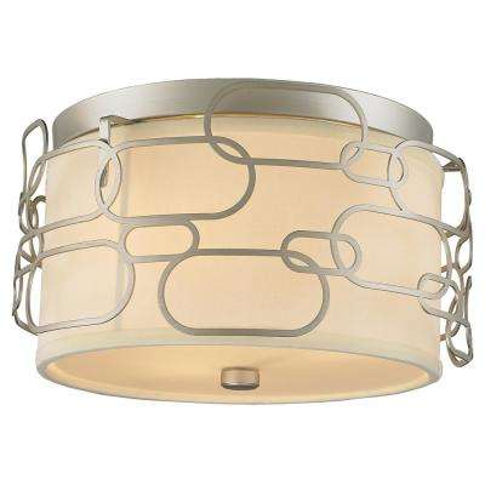 Montauk 3-Light Matte Nickel Flushmount
