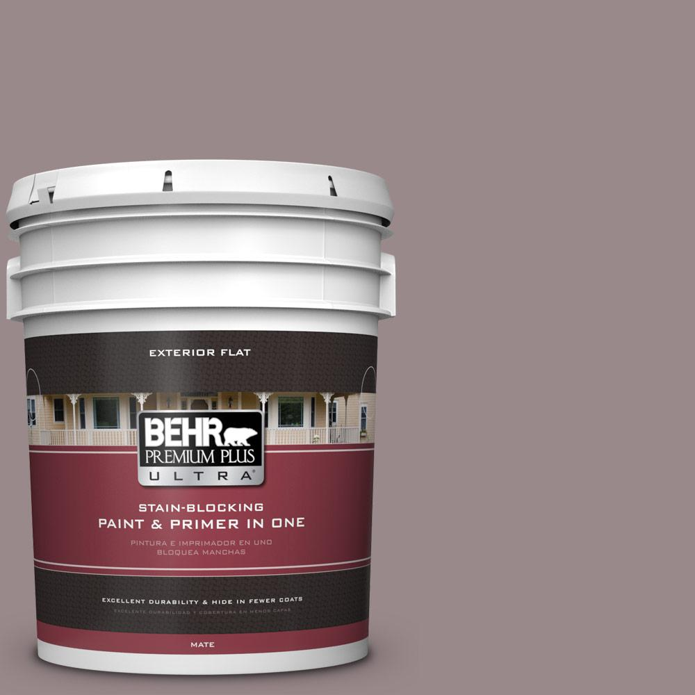 5 gal. #MQ1-37 Fashion Week Flat Exterior Paint and Primer in