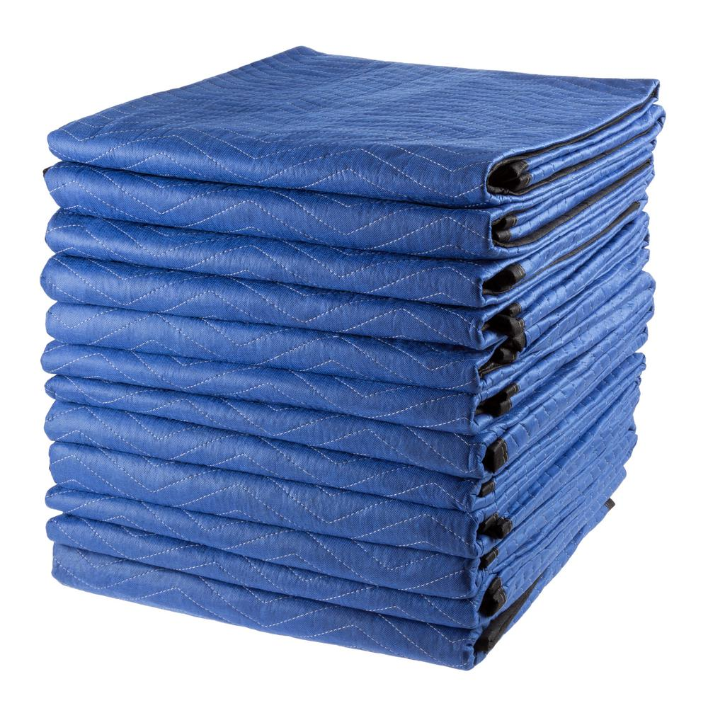 Stalwart Oversized Dual Layer Padded Moving Blanket Set (12-Pack)