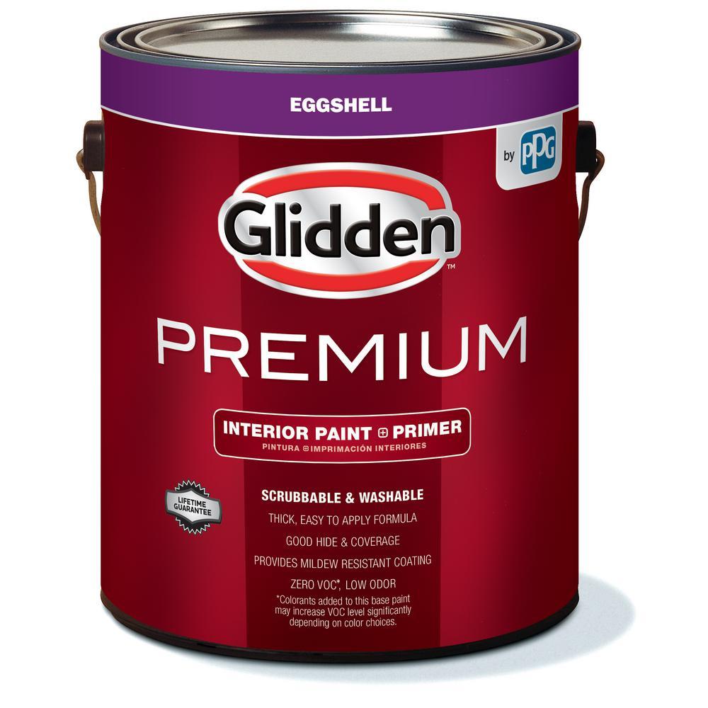 Glidden Premium 1 gal. Eggshell Interior Paint-GLN6000-01 - The Home Depot