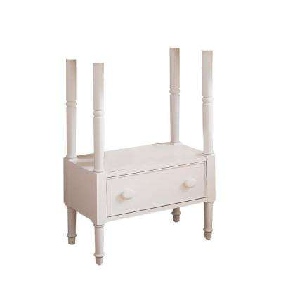 Retrospect 27 in. Poplar Washstand Table Bath Vanity Cabinet Only in White