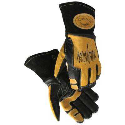 Extra Large Black Ergonomic Cow Grain Stick/MIG Welding Gloves