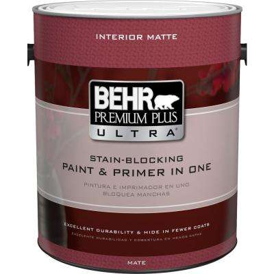 1 gal ultra pure white matte interior paint and primer in one behr