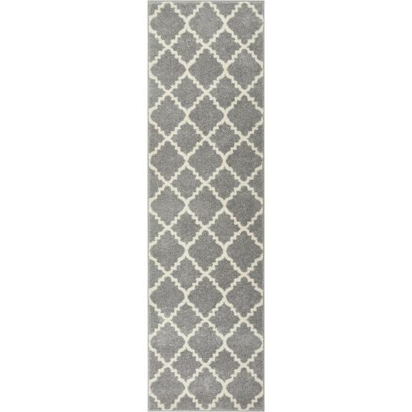 Lattice Moroccan Trellis Grey 3 Ft