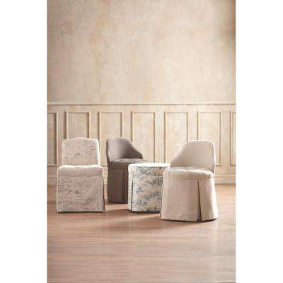 Ella Blue Flower Vanity Stool