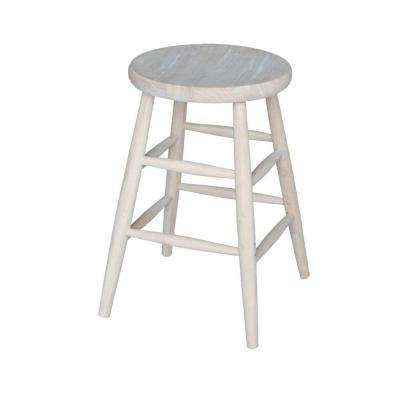 24 In Unfinished Wood Bar Stool